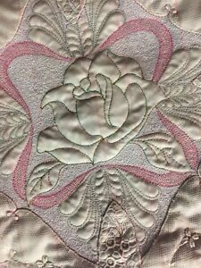 Quilted Bridal Handkerchief Wall Hanging
