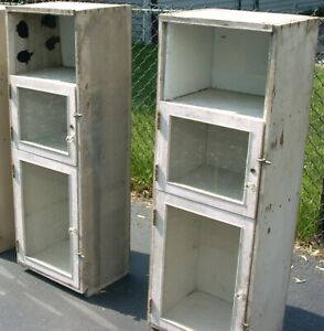 2 Vintage Wall Cabinets Kitchen Cupboards Cupboard Circa 1900 1920s Victorian