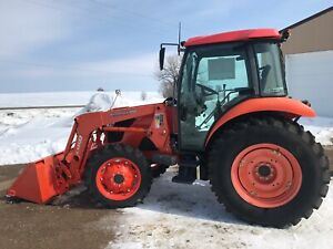 2011 Kubota M7040 Tractor With Loader Cab Heat ac 4x4 70hp 422 Hrs Very Clean