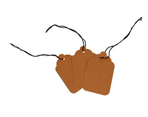 Blank Kraft Strung Merchandise Pricing Tags Brown 8 Tags 1 75 W X 2 875 H