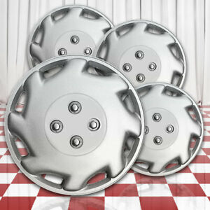 Silver 12in Wheel Cover Hubcaps Abs For Laser Style Look