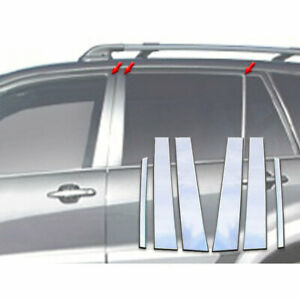 6p Stainless Steel Pillar Post Trim Fits 2001 2005 Toyota Rav4 By Luxury Fx