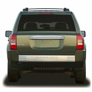 Rear Door Molding Cover For 2007 13 Jeep Patriot Chrome W O Keyhole Premium Fx