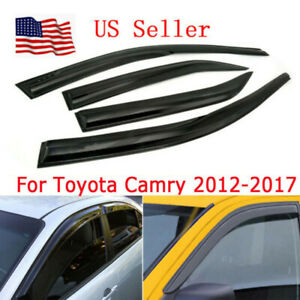 Fit 2012 2017 Toyota Camry Jdm Mugen 3d Style Door Window Visor Vent Rain Guard