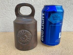 5lb Vintage Cast Iron Bell Hanging Scale Weight