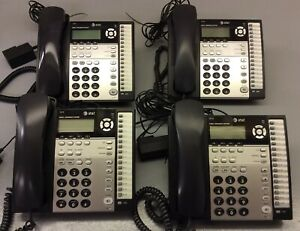 At t 1070 Small Business System Phones Lot Of 4 Black