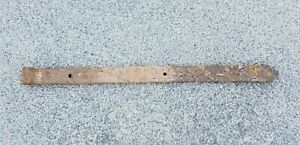 Primitive Antique Hand Forged Barn Door Strap Hinge Gate Iron 20 Long 1 Wide
