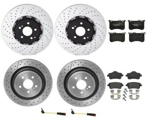 Front Rear Brembo Brake Kit Disc Rotors Low Met Pads For Mercedes R172 Slk55 P30