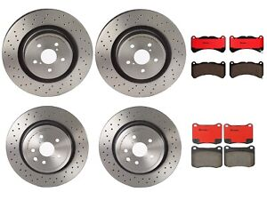 Front Rear Full Brembo Brake Kit Disc Rotors Drilled Ceramic Pads For Lexus Is F