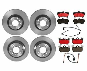 Front Pvt 350 Rear 330 Brembo Brake Kit Disc Rotors Ceramic Pads For Q7 Cayenne