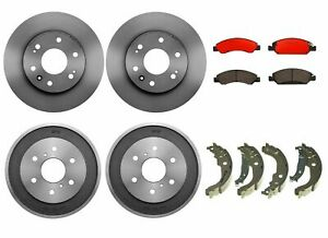 Brembo Brake Kit Front Disc Rotors Ceramic Pads Rear Drums Shoe For Chevy Gmc