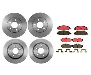 Front Rear Full Brembo Brake Kit Disc Rotors Ceramic Pads For Ford Mustang Base