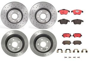 Front Rear Brembo Brake Kit Drill Disc Rotors Ceramic Pad For Range Rover Evoque