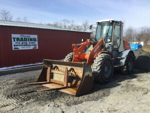 2004 Atlas Coyote 95 4x4 Compact Wheel Loader W Cab Bucket Forks