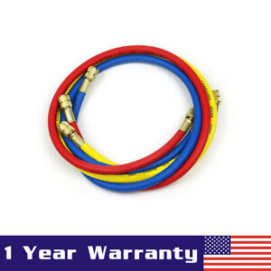 R134a Ac Auto Air Conditioning Recharge 1 5m Hose Refrigerant Can Tap 600 Psi