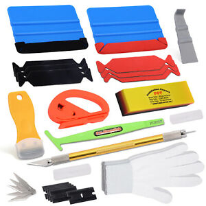 Auto Body Decals Wrapping Tools Vinyl Rubber Turbo Squeegee Blade Window Tint Us