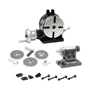New Toolman Rotary Table 4 5 16 110mm Kit Dividing Plate Tail Stock Clamp Set