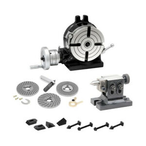 New Rotary Table 6 150mm Kit dividing Plate Set Tail Stock Clamps