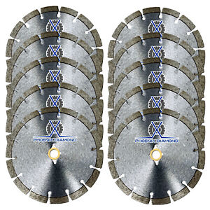 10pc 4 wet dry Diamond Saw Blade All Purpose For Concrete Stone Brick 20 Hole