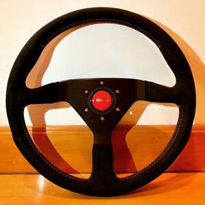 Genuine Momo Monte Carlo Alcantara Steering Wheel 350mm