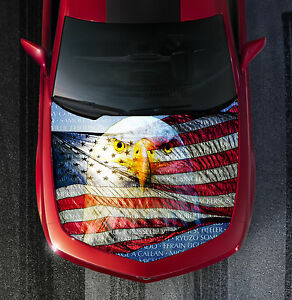 American Flag Eagle Vietnam Wall Tribute Truck Car Hood Vinyl Decal Wrap Hood037