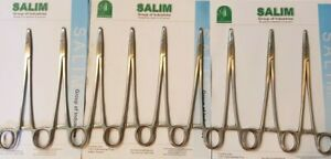 100 X Mayo Hegar Needle Holder 8 20cm Suture Piercing Plier Salim group