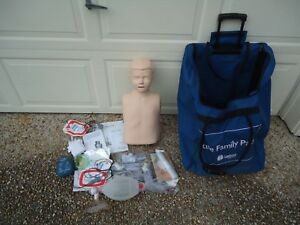 Laerdal First Aid Cpr Training Dummy And Bag Etc Lot