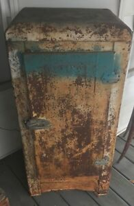 Vintage Metal Wood Ice Box Local Pick Up Only