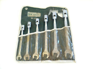S k Set 1756 Fc 14 Fc 24 Flex Head Socket Open End Wrench Set 7 16 3 4