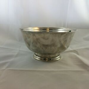Gorham 41660 Sterling Silver Revere Bowl W Glass Liner 9 Dia
