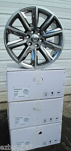20 New Gmc Yukon Chevy Suburban Silverado Tahoe Grey Chrome Wheels 5696 4