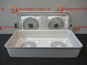 Aesculap Sterilization Tray Case Instrument Lid Container 22 25 X 10 75 X 5