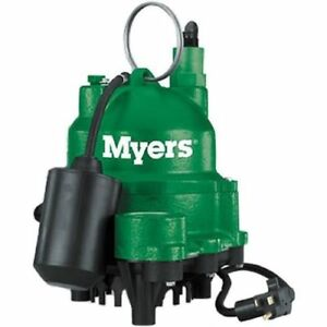 New Myers Mdc33p1 1 3 Hp Cast Iron Sump Pump W Tether Float Switch