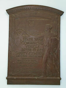 Boston State Wide Commercial Vehicle Inter Fleet Safety Contest 1931 Bronze