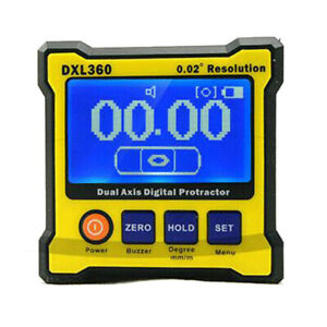 Dual Axis Digital Protractor Dxl360 Protractor Inclinometer Lcd Level Box