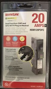 Square D Hom120pdfc 20a Dual Function Plug In Breakers New Free Ship