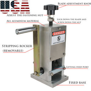 Copper Wire Stripping Machine Hand Crank Drill Operated Cable Stripper New Usa