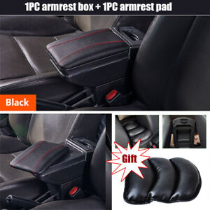 Car Central Container Armrest Cup Holder Pu Leather Elasticity Pad Universal