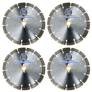 4pack 9 Wet dry Diamond Saw Blade All Purpose For Concrete Stone Brick Masonry