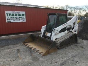 2013 Bobcat T770 Compact Track Skid Steer Loader W Cab 2 Speed