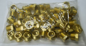 Brass Fittings Brass Reducing Bushing Size 1 2 X 1 4 Quanity 25