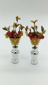 Japanese Hina Doll Vtg Flower Stand Cherry Blossom Accessory Pair Pink