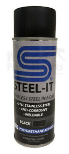 Steel It Black Stainless Steel Pigmented Paint Polyurethane 14oz Spray Can