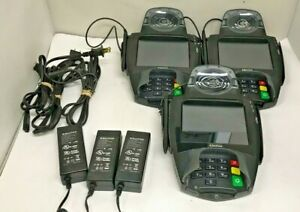 Lot Of 3 Equinox Hypercom L5300 Credit Card Terminal With Power Cord
