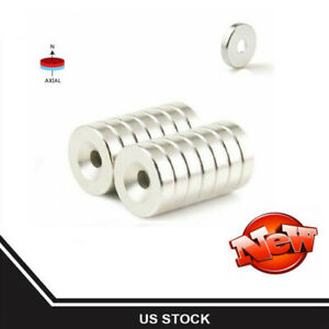 1 200x Strong Countersunk Ring Magnets 12 X 3mm Rare Earth Neodymium 3mm Hole
