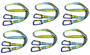 Key bak Pro Toolmate Ansi 121 Compliant 10 Lb Lanyard With Carabiner Ends 6pk