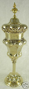 Antique Wwi German Wilkens Sohne 800 Silver Gilt Family Chalice 14inh624g1911 19