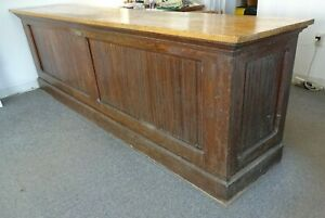 Antique Oak Mercantile Store Counter Made By C V Hill Trenton Nj 10 Long Solid