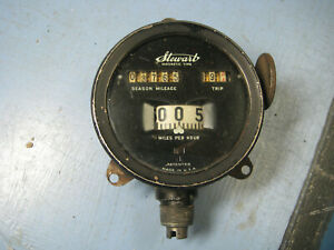 Antique Stewart 0 60 Mph Magnetic Type Dash Mount Speedometer 1920s 3178