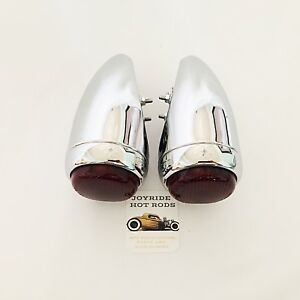 Hot Rod 1939 Chevy Tail Lights Full Chrome 1 Pair